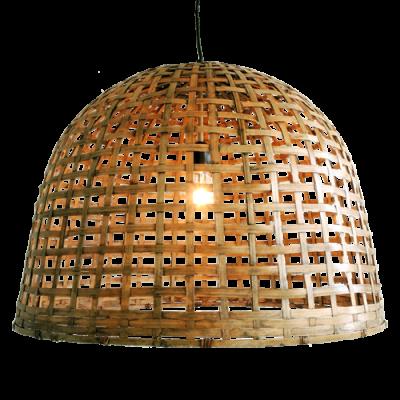 437-large-bell lamp bamboe large (Ø60 h45cm)-1