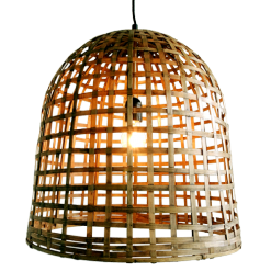 437-medium-bell lamp bamboe medium (Ø45 h45cm)-1