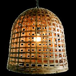 437-medium-bell lamp bamboe medium (Ø45 h45cm)-1