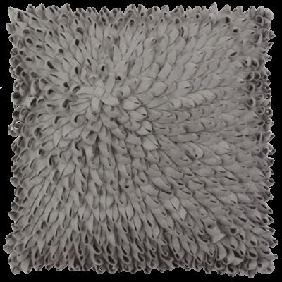 401-lichtgrijs:2-wolvilten kussen loops (45x45cm)-1