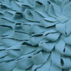 401-petrol blue-wolvilten kussen loops (45x45cm)-2