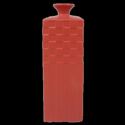 443-poppy red-aardewerk vaas (12x12x35cm)-1
