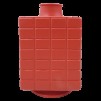 444-poppy red-aardewerk vaas vierkant (16x16x28cm)-1