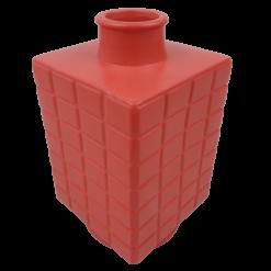 444-poppy red-aardewerk vaas vierkant (16x16x28cm)-2