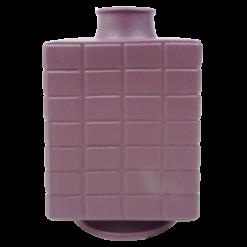 Vaas vierkant purple rain aardewerk vaas paars hinck amsterdam woonaccessoires met bijzondere texturen met oog voor detail van een hoge kwaliteit