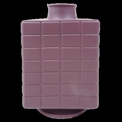 444-purple rain-aardewerk vaas vierkant (16x16x28cm)-1