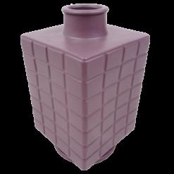 444-purple rain-aardewerk vaas vierkant (16x16x28cm)-2