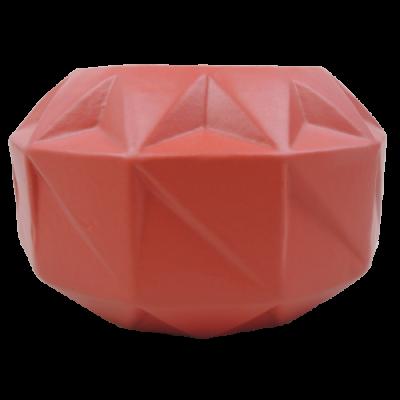 445-poppy red-aardewerk vaas vouw (22x22x12cm)-1