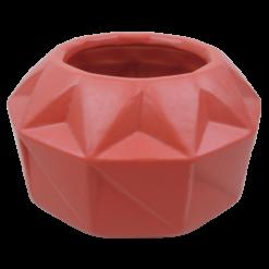 445-poppy red-aardewerk vaas vouw (22x22x12cm)-2