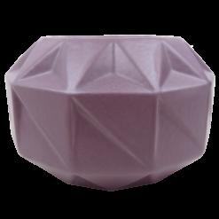 Vouwvaas purple rain aardewerk vaas paars hinck amsterdam woonaccessoires met bijzondere texturen met oog voor detail van een hoge kwaliteit