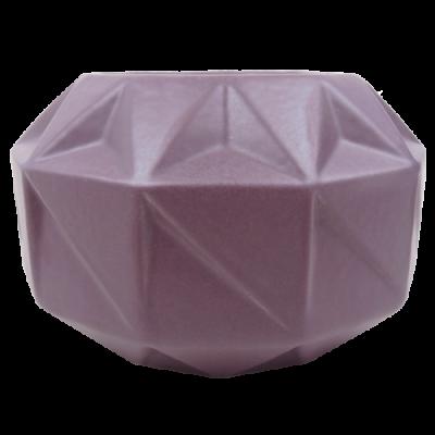 445-purple rain-aardewerk vaas vouw (22x22x12cm)-1