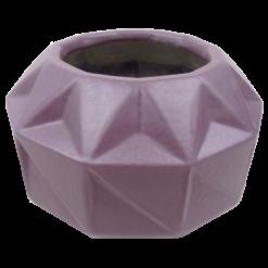 445-purple rain-aardewerk vaas vouw (22x22x12cm)-2