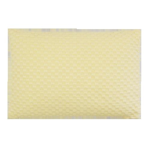grove weving geel medium okergeel kussen hinck amsterdam woonaccessoires met bijzondere texturen met oog voor detail van een hoge kwaliteit