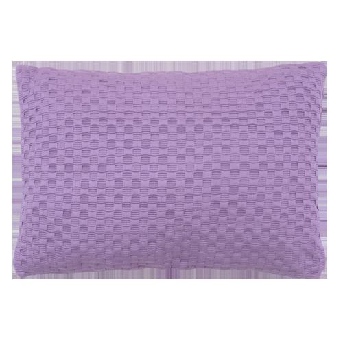 Grove weving paars medium kussen hinck amsterdam woonaccessoires met bijzondere texturen met oog voor detail van een hoge kwaliteit