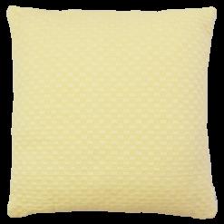 grove weving geel large okergeel kussen hinck amsterdam woonaccessoires met bijzondere texturen met oog voor detail van een hoge kwaliteit