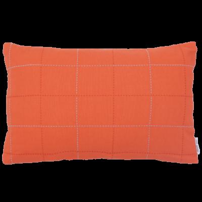 455-oranje-katoen kussen lijnenspel (35x55cm)-1