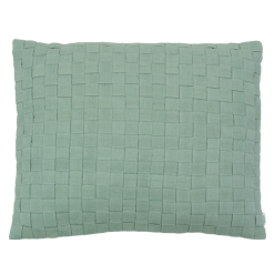 linnen geweven old green kussen hinck amsterdam woonaccessoires met bijzondere texturen met oog voor detail van een hoge kwaliteit