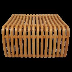 493-bamboe bijzettafel design (60x60x30cm)-1