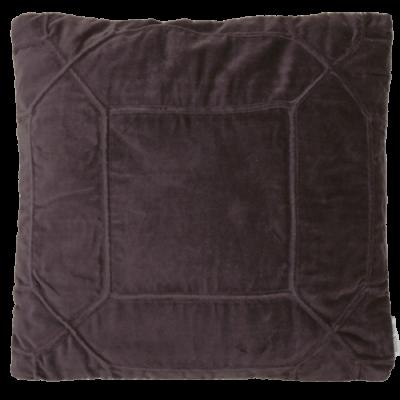 453-paars-velours kussen hexagon (45x45cm)-1