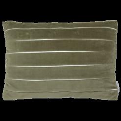 3D plooi lever donker kussen hinck amsterdam woonaccessoires met bijzondere texturen met oog voor detail van een hoge kwaliteit