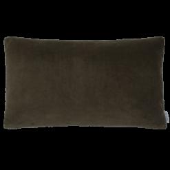 Kraaltjes velours choco kussen hinck amsterdam woonaccessoires met bijzondere texturen met oog voor detail van een hoge kwaliteit
