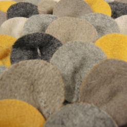 467-mixed oker-wolvilten kussen chips mixed (35x50cm)-2