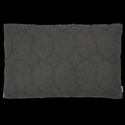 483-antraciet-wolvilten kussen hexagon (40x60cm)-1