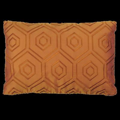 500-sunset yellow-zijde kussen hexagon borduur(42x28cm)-1