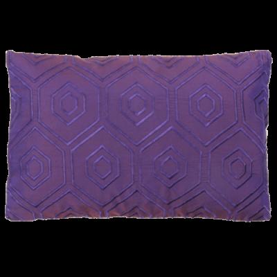 500-violetta-zijde kussen hexagon borduur(42x28cm)-1