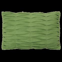 wave green kussen hinck amsterdam woonaccessoires met bijzondere texturen met oog voor detail van een hoge kwaliteit