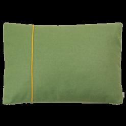 Basic fold groen-geel kussen hinck amsterdam woonaccessoires met bijzondere texturen met oog voor detail van een hoge kwaliteit