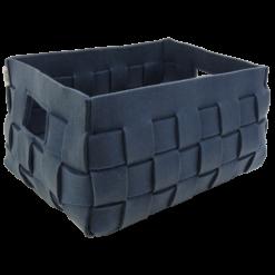 514-blauw-vilten geweven mand medium (42x31x24,5cm)-2