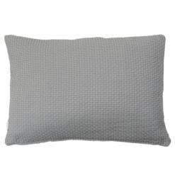 dobby grijs medium kussen hinck amsterdam woonaccessoires met bijzondere texturen met oog voor detail van een hoge kwaliteit