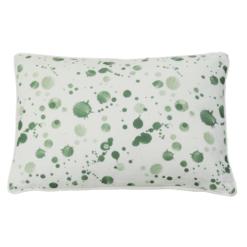 spat groen klein kussen hinck amsterdam woonaccessoires met bijzondere texturen met oog voor detail van een hoge kwaliteit