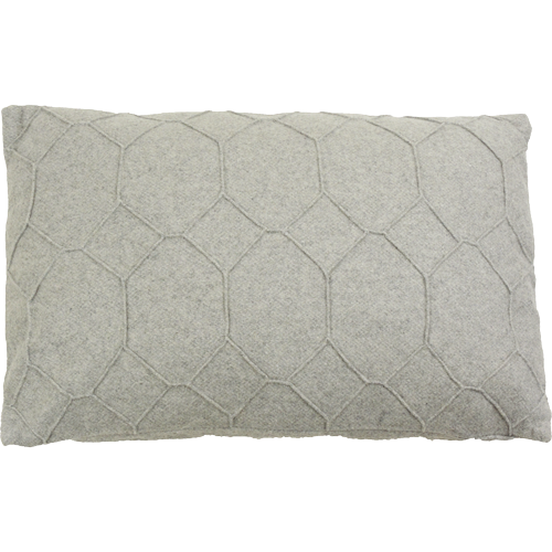 hexagon light grey kussen licht grijs hinck amsterdam wolvilt 40x60cm woonaccessoires met bijzondere texturen met oog voor detail, handgemaakt en of handgeweven