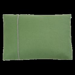 basic fold groen-grijs kussen hinck amsterdam woonaccessoires met bijzondere texturen met oog voor detail van een hoge kwaliteit