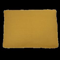 Basic piping ocre large okergeel kussen hinck amsterdam woonaccessoires met bijzondere texturen met oog voor detail van een hoge kwaliteit