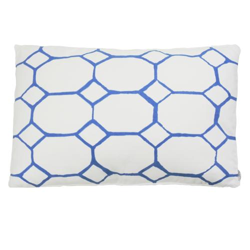hexagon bedrukt bright blue hinck amsterdam woonaccessoires met bijzondere texturen met oog voor detail van een hoge kwaliteit