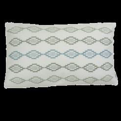 hexagon borduur green blue hinck amsterdam woonaccessoires met bijzondere texturen met oog voor detail van een hoge kwaliteit