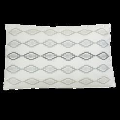 Hexagon borduur grey kussen hinck amsterdam woonaccessoires met bijzondere texturen met oog voor detail van een hoge kwaliteit