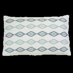 hexagon borduur petrol hinck amsterdam woonaccessoires met bijzondere texturen met oog voor detail van een hoge kwaliteit