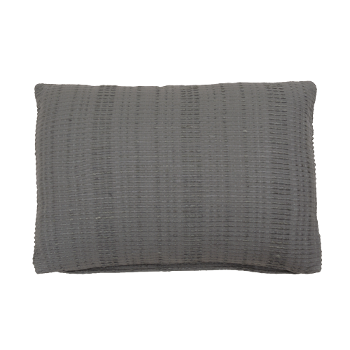 Baseline charcoal grey small kussen hinck amsterdam woonaccessoires met bijzondere texturen met oog voor detail van een hoge kwaliteit