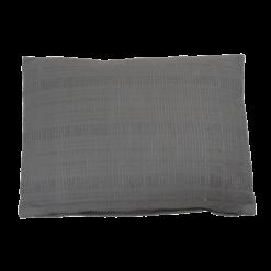 Baseline charcoal grey large kussen hinck amsterdam woonaccessoires met bijzondere texturen met oog voor detail van een hoge kwaliteit