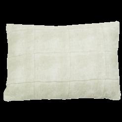 Voile oil green kussen hinck amsterdam woonaccessoires met bijzondere texturen met oog voor detail van een hoge kwaliteit