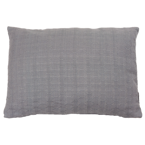 Wieber charcoal grey medium kussen hinck amsterdam woonaccessoires met bijzondere texturen met oog voor detail van een hoge kwaliteit