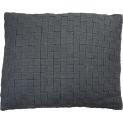linnen geweven charcoal grey kussen hinck amsterdam woonaccessoires met bijzondere texturen met oog voor detail van een hoge kwaliteit