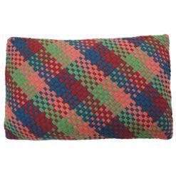 Multi weave deep color mix kussen hinck amsterdam woonaccessoires met bijzondere texturen met oog voor detail van een hoge kwaliteit