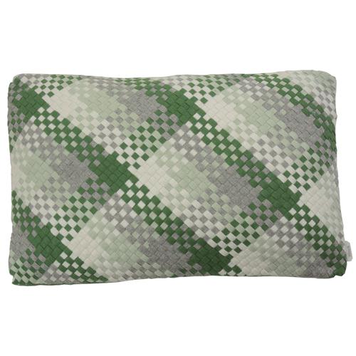 multi weave green kussen hinck amsterdam woonaccessoires met bijzondere texturen met oog voor detail van een hoge kwaliteit