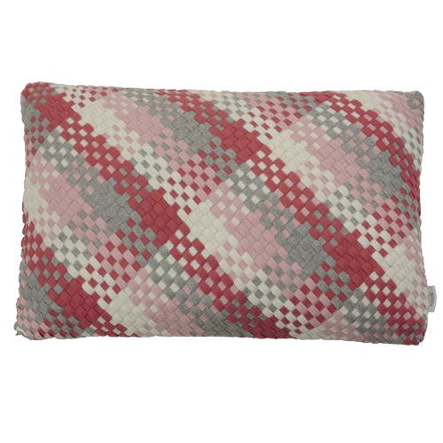 Multi weave pale pink kussen hinck amsterdam woonaccessoires met bijzondere texturen met oog voor detail van een hoge kwaliteit