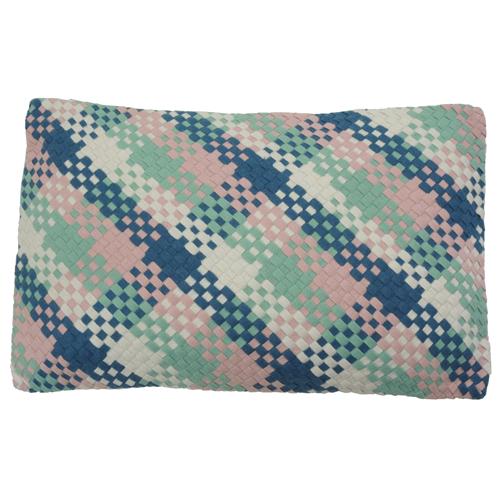 Multi wave pastel kussen hinck amsterdam woonaccessoires met bijzondere texturen met oog voor detail van een hoge kwaliteit